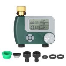Bateria operado automático rega sprinkler sistema de irrigação controlador programável digital mangueira torneira temporizador com 2 saída