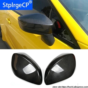 100% Carbon Fiber Rear View Mirror Cover Full add on style For Toyota GT 86 GT86 high quality(China)