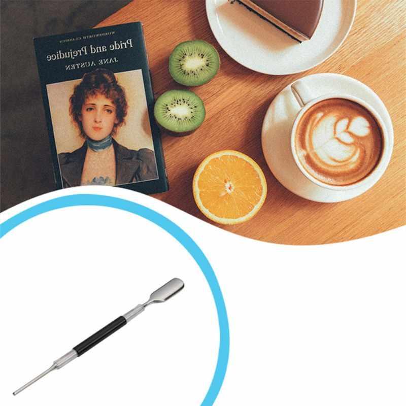 3 Pcs/set Coffee Pena 304 Stainless Steel Barista Cappuccino Kopi Dekorasi Seni Latte Tamper Jarum Kopi Mewah Tongkat Alat