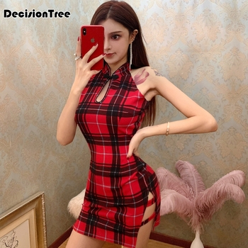 2020 chinese party dress chinese dress sexy cheongsam floral print halter backless hollow out qipao sexy chinese dress vestidos floral print halter sheath dress
