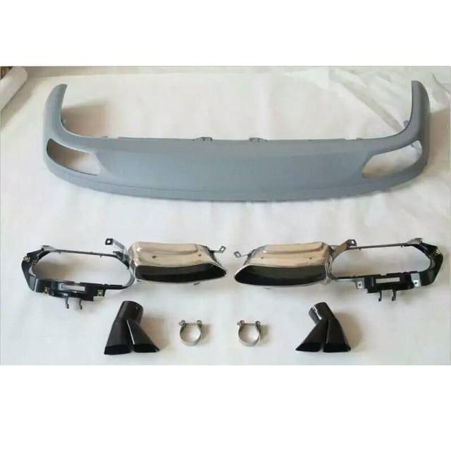 Embout déchappement pour Audi A8 pare-choc arrière   Accessoires de Style de voiture, Style W12, diffuseur de pare-chocs arrière, Spoiler, protection contre le choc Non Sline 2011-2014