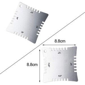 Image 2 - BMDT غيتار الأصابع فريتس أداة قياس مجموعة مع 4 محرز نصف قطرها مقاييس ، 9 تحت سلسلة دائرة نصف قطرها قياس والعمل سلسلة