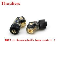 Thouliessヘッドフォンプラグforh24 roxanne 24 iriver ak r03 akr02 um pp6〜mmcx/0.78mmメスコンバーターアダプター (低音制御付き)