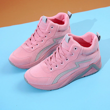 2019 Autumn New Fashion Ladies Casual Shoes Black Pink High To Help Girls Comfortable Casual Shoes Brand Cheap Casual Shoes air force no 1 children s shoes 2018 autumn boy leather shoes in the shoes to help girls casual shoes high to help
