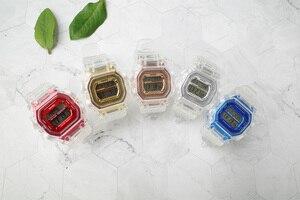 Image 5 - ファッションメンズレディース腕時計ゴールドカジュアル透明デジタルスポーツウォッチ恋人のギフト時計防水子供子供の腕時計