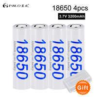 100% original 18650 3.7 v 18650 bateria 3200 mah bateria recarregável li-ion baterias para lanterna tocha transporte da gota pilha
