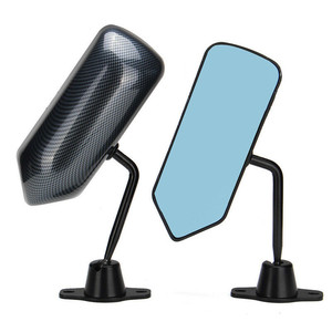 Image 3 - For 89 94 240sx S13 F1 Style Manual Adjustable Carbon fiber look Painted Side View Mirror