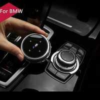 Original Auto Multimedia Tasten Abdeckung iDrive Aufkleber für BMW 1 2 3 5 7 Serie X1 X3 F25 X5 F15 x6 16 F30 F10 F07 E90 F11 M logo