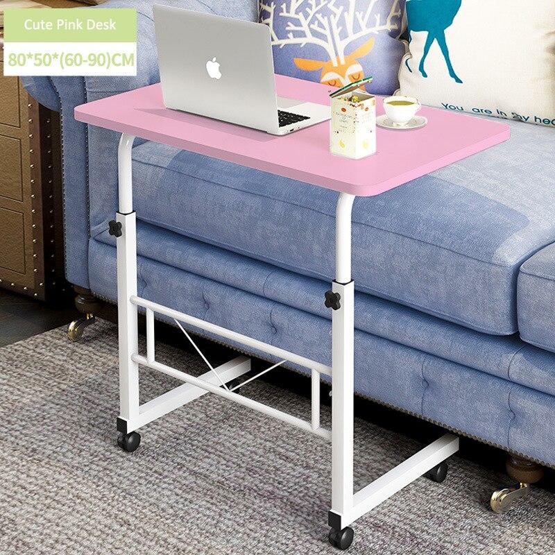 Домашний мобильный стол для ноутбука, прикроватный компьютерный стол, передвижной регулируемый столик для ноутбука, столик для учебы, компьютерная подставка, диван кровать - 5
