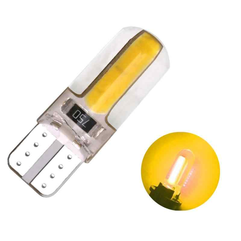 T10 W5W COB 1W carcasa de silicona canbus luz LED para coche lámpara de cuña lateral placa de licencia bombilla 12V accesorios de coche de estilo