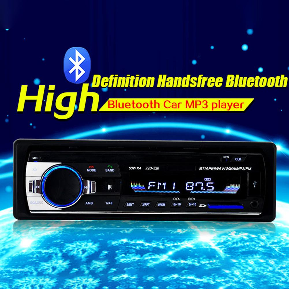Car Radio Stereo Player Digital Bluetooth Car MP3 Player 60Wx4 FM Radio Stereo Audio Music USB/SD with In Dash AUX Input image