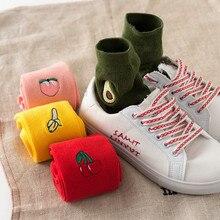 1 Pair winter men fashions Womens Fruit stockings Crew Socks Women Casual Nolvety Funny Long Cute harajuku