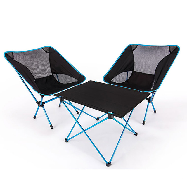 Portable Chair Foldable DIY Table Chair Desk Camping BBQ Hiking Traveling Outdoor Picnic 7075 Aluminium Alloy Ultra light Chair