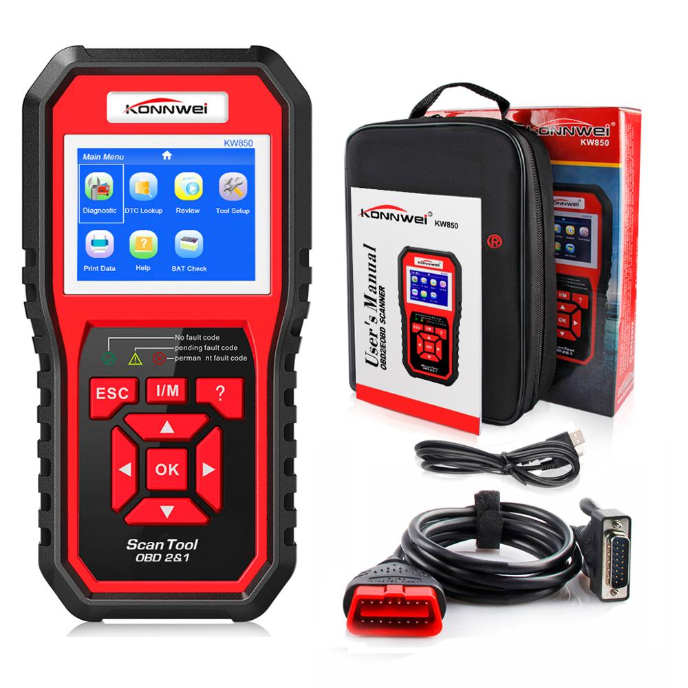 2020 Best OBD 2 Auto scanner OBD2 Scanner KONNWEI KW850 Full ODB2 Scanner Supports Multi-languages ODB 2 Auto Diagnostic Scanner