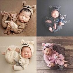 Dvotinst реквизит для фотосессии новорожденных для малышей милые мягкие наряды с мышкой капот кукла одеяло Bebe Fotografia Студия фото реквизит