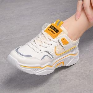 Image 2 - Zapatillas de deporte gruesas para mujer, zapatos vulcanizados informales de plataforma a la moda, zapato de cesta, deportivas, 2019