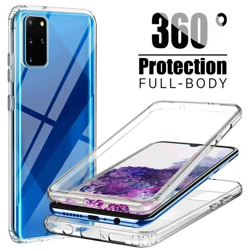 Nuevo 360 caso a prueba de golpes para Samsung Galaxy S21 Ultra S20 S10 S10E S9 S8 más S7 borde A02S A12 A32 A42 A52 A72 A21S M31S cubierta