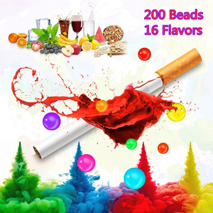 200 Grains 16 Flavors DIY Bubble Smoke with Fragrant Pill Mint Fruit Flavor Cigarette Mouth Filter Bead Burst Bead