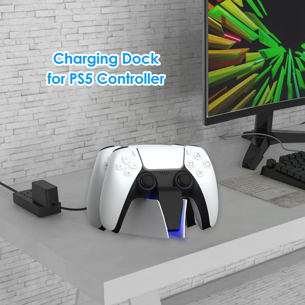 Dual Fast Charger for PS5 Wireless Controller USB Type-C Charging Cradle Dock Station for Sony PlayStation5 Joystick Gamepad New