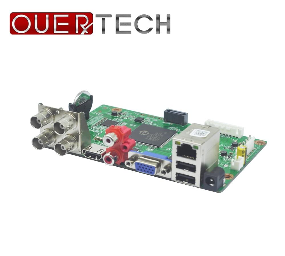 OUERTECH 5 em 1 1080N 4CH CVBS IP CVI TVI AHD CCTV DVR board/1080 P/5MP ONVIF vigilância De Vídeo Recorde placa Principal