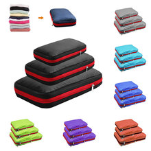Men Women Nylon Foldable Travel Bag Organizer Large Capacity Waterproof Travel Bag Compression Packing Cubes Three Zipper Bags