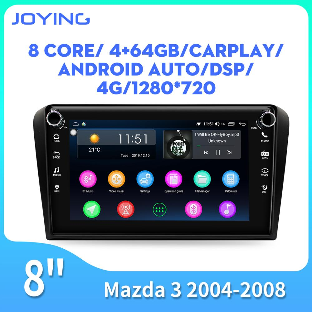 Android 8.1 head unit 8 inch car radio 4GB+64GB/2GB+32GB 4G WIFI DSP for <font><b>Mazda</b></font> <font><b>3</b></font> <font><b>2004</b></font> 2005 2006 2007 2008 Video GPS player RDS image