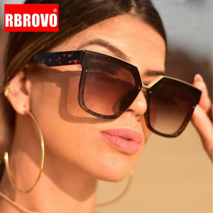 RBROVO 2020 Oversized Sunglasses Women Square Sun Glasses Women/Men Luxury Glasses for Women Designer Oculos De Sol Feminino
