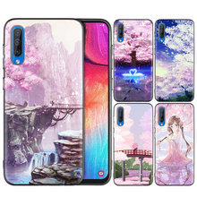 Black Silicone Case Cover for Samsung Galaxy M10 M20 M30 S8 S9 S10 S10e 5G J8 10 5G Note 8 9 10 Plus 2018 S7 Edge anime Plum Che(China)