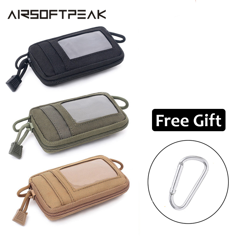 Tactical Molle Pouch Utility EDC Pouch Wallet Card Bag Nylon Waterproof Waist Pouches Military Airsoft Accessory Bags