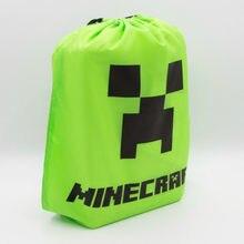 Sac à dos de voyage Minecraft pour enfants, avec cordon de serrage, sac de transport avec poche, cadeau de noël