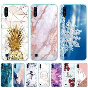 For ZTE Blade A7 2020 Case 6.088'' Fashion Marble Flower silicon Soft TPU Cute Back Case for ZTE Blade A5 2020 Phone Cover Coque