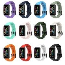 OOTDTY החלפת ספורט סיליקון שעון להקת רצועת יד מתכוונן Watchbands עבור Huawei כבוד להקת 6 חכם שעון