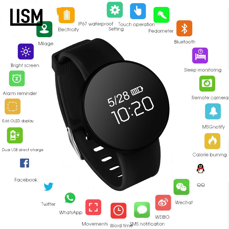 Smart watch IP68 waterproof Sport Activity Fitness tracker Heart rate monitor BRIM Men women smartwatch For Android смарт часы