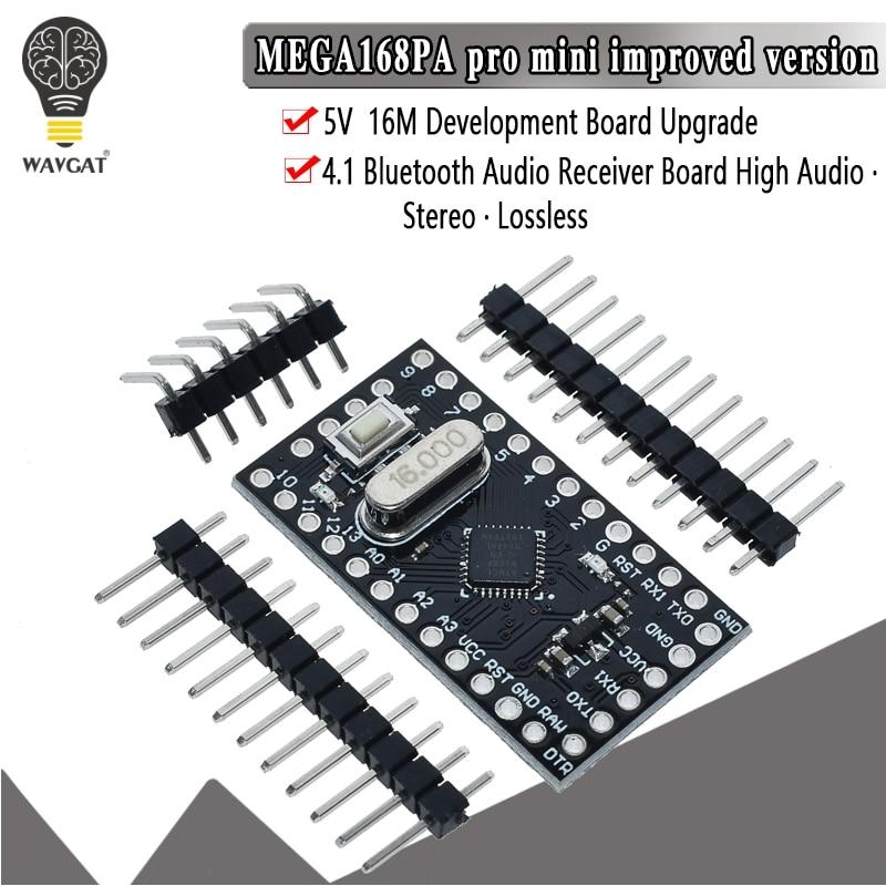 WAVGAT Pro Mini 168 Mini ATMEGA168 5V/16MHz For Arduino Compatible With Nano Microcontrol Micro Control Board