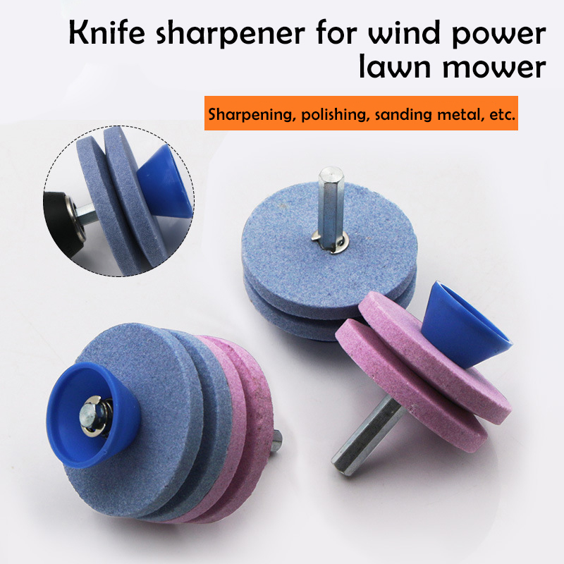 Blade Garden Tools Fastest Knife Sharpener Blade Universal Grinding Rotary Drill Cutter Lawnmower Knife Sharpener