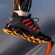 Chaussures de sport confortables avec lame en arête de poisson pour homme, baskets à la mode pour Jogging, rouge, 46, 48
