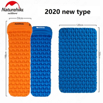 Naturehike Camping Mat Ultralight Outdoor 1-2 Man Sleeping Pad Portable Inflatable Mattress Camping Hiking Air Mat Tent Camp naturehike 1 2 man camping tent outdoor 1 2 person ultralight hiking camp tents 1 25kg pu 4000mm