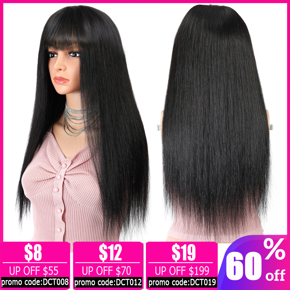 Wholesales Price Brazilian Straight Long Wig With Bangs Pixie Cut Bob Wig Short Human Hair Wigs For Women Machine Made Non-Remy