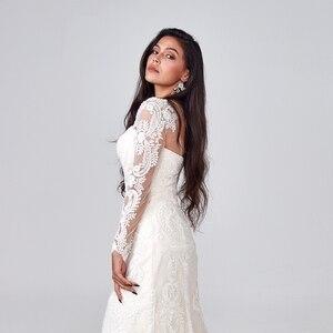 Image 3 - 2019 יוקרה בת ים חתונת שמלת מכירה לוהטת מלא ואגלי חתונת שמלת תפור לפי מידה מפעל סיטונאי כלה שמלה חדש כלה שמלה