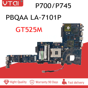 PBQAA LA-7101P P700 motherboard for toshiba satellite P700 P745 laptop motherboard  K000123420  HM65 DDR3 GT525M DDR3