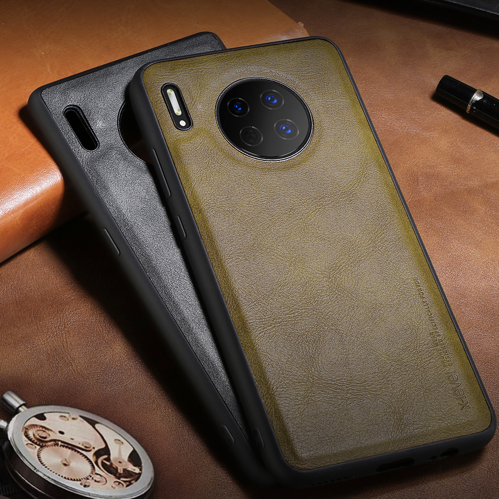 Leather Case For Huawei Mate 30 Pro Soft Silicone Edge Shockproof Back Phone Cover For Huawei Mate 30 Case For Mate30