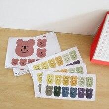 Decoration Sticker Diy Scrapbooking Bear Envelope-Seal Photo-Album Korean Cartoon Toy
