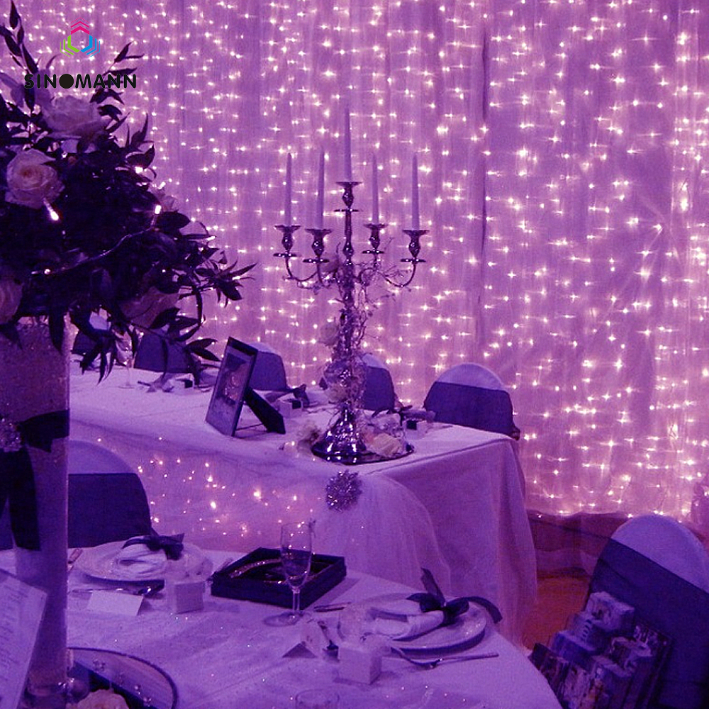 10M x 3M 960 LED Home Outdoor Holiday Christmas Decorative Wedding xmas String Fairy Curtain Garlands Strip Party Lights