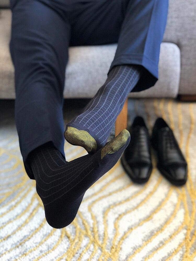 Men's Socks Male Formal Dress Black Socks Men's Business Socks Sexy Men's Dress Socks Breathable Gentleman Suit Cotton Socks
