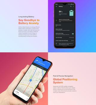 Ulefone Note 8 Smartphone Android 10 Go Celular Phone 5.5 inch Waterdrop Screen Quad Core 2GB+16GB Face ID Unlocked Cellphones 4