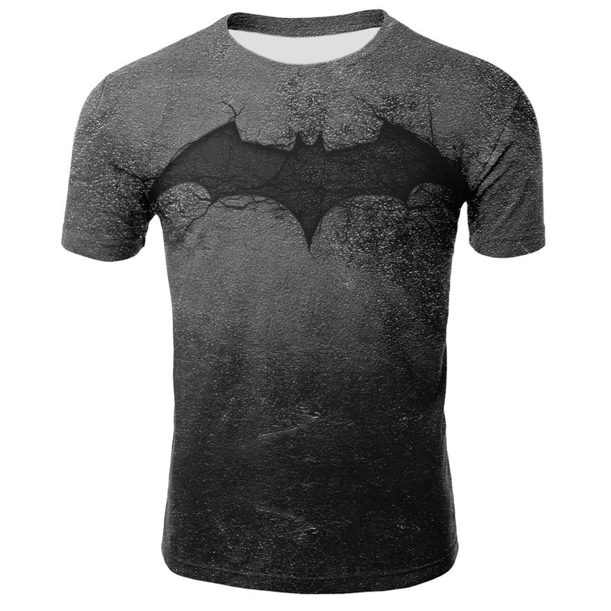 Marvel Batman Captain America T-shirt Hot Superman T Shirt Men Joges 2019 Superhero Tights Quick-dry T-shirt Summer Clothing