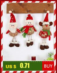 Santa Deer Pattern Christmas Cushion Cover Decorative Throw Pillow 45*45cm Polyester Pillowcase Xmas New Year Home Decor 40543 21