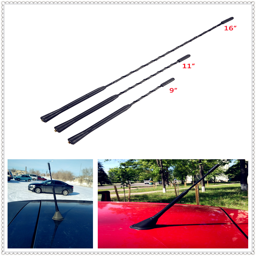 """9/"""" Aerial Antenna with Base Car AM//FM Roof Mast Whip for BMW Z4 M3 USA"""