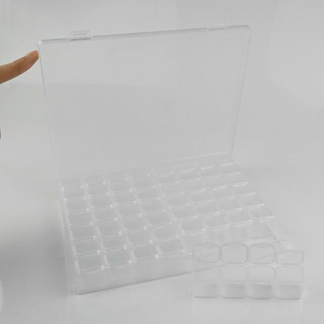 56-grille boîte de rangement des ongles mallette de rangement en plastique pour les femmes outil de stockage dart des ongles KG66