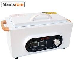 Портативные высокотемпературные инструменты для дизайна ногтей стерилизатор коробка для маникюрного салона стерилизация инструмент для ...